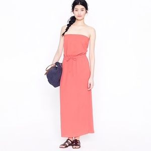 J. Crew Amie Whisper Gauze Strapless Maxi Dress, M